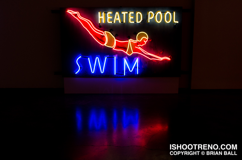 The Light Circus-Art of Nevada Neon Signs-The Swimmer, Zephyr Motel