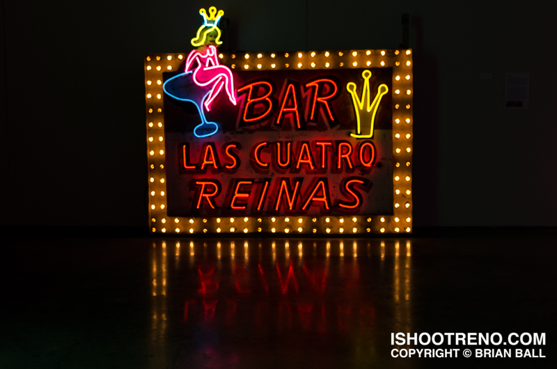 The Light Circus-Art of Nevada Neon Signs-Las Quatro Reinas
